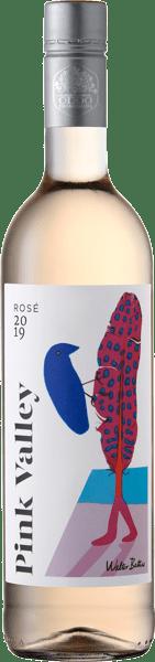 Pink Valley Wines Premium Rosé Label with Walter Battiss Orange Bird and Feather